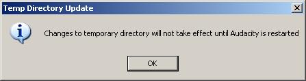 Audacity message