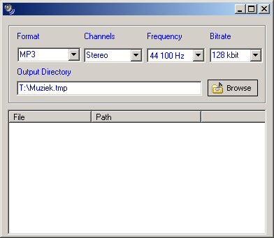 Cheetah Audio Converter 1.3 Left pane