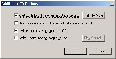 Additional CD Options