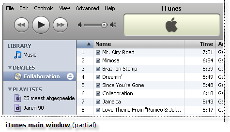 iTunes Main Window