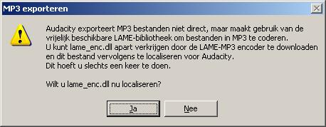 lame_enc.dll localiseren