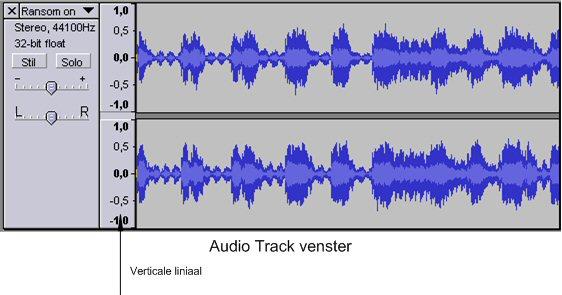 Audio Track Venster
