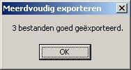Meervoudig Exporteren OK