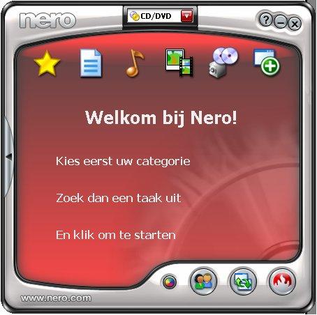 Nero Openingsscherm