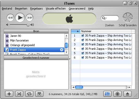 iTunes afspeellijst